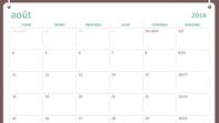 Calendrier scolaire 2014-2015 (août-juillet)