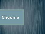 Chaume