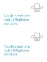 Poster de rappel de la nécessité d'extinction des téléphones portables
