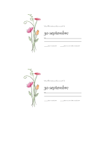 Cartes-réponses (aquarelle)