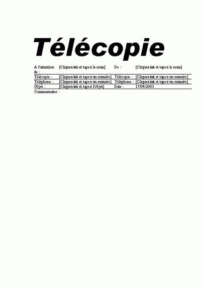 Télécopie (standard)