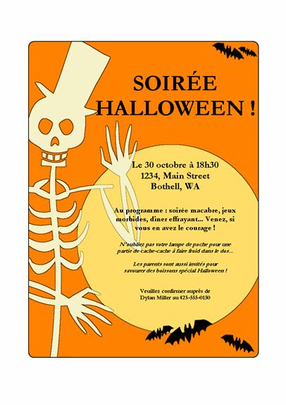 Invitation pour une soirée Halloween
