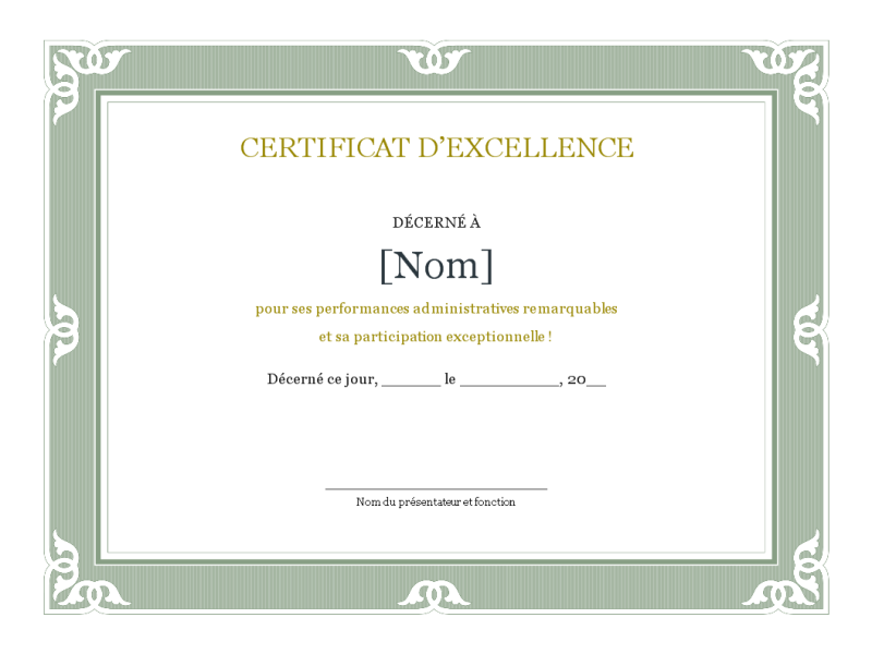 Certificats for Modele certificat de ramonage gratuit