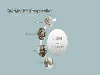 Graphique SmartArt de processus avec liste radiale (grand écran)