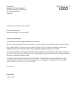 En-tête de lettre (conception Intemporel)