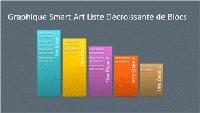 Diapositive SmartArt Liste décroissante de blocs (plusieurs couleurs sur gris), grand écran