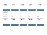 Cartes de visite, mise en page verticale avec logo, texte aligné à gauche