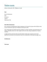 Lettre de motivation (bleu)