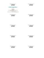 Cartes de visite, mise en page horizontale avec logo, nom en majuscules
