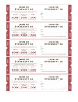 Tickets de tombola
