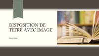 Présentation académique avec rayures et ruban (grand écran)