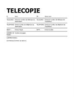 Page de garde audacieuse pour télécopie