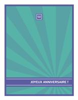 Carte d'anniversaire important, rayures bleues sur arrière-plan vert