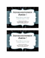 Invitation à une fête (conception de ruban bleu)