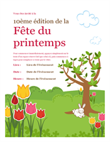 Prospectus pour un événement du printemps