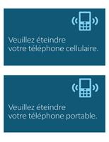 Panneau d'interdiction d'utiliser le téléphone cellulaire
