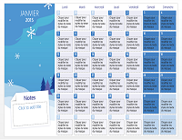 "Calendrier mensuel 2015 - Thème ""Saisons"""