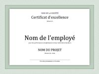 Prix d'excellence pour un employé