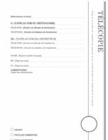 Page de garde de télécopie (Oriel)