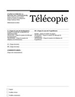 Page de garde de télécopie (Urbain)