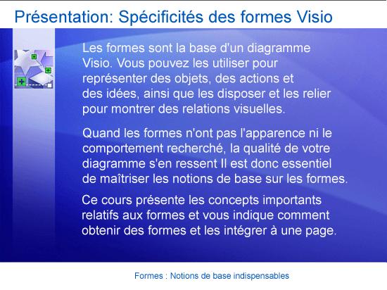 Formation (présentation): Visio 2007 — Formes: Notions de base indispensables