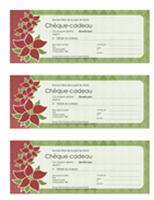 Chèque-cadeau pour les fêtes