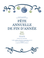 Invitations Fêtes avec ornements bleus et verts (Formel)