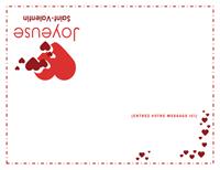 Carte de saint Valentin (intérieur vierge)