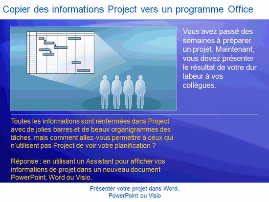 Présentation de formation: Project2007—Présenter votre projet dans Word, PowerPoint ou Visio