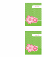 Carte de remerciements (style floral)