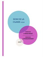 Kit de bloc-notes pour école (couverture, dos de classeur, intercalaires)