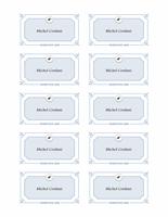 Cartes nominatives pour remise de diplômes (Modèle formel)