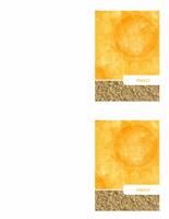 Carte de remerciements (style Sable et soleil)