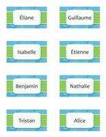 Carte avec nom ou marque-place (nuages, 8/pg)