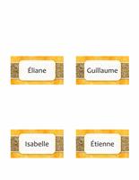 Carte avec nom ou marque-place (soleil et sable, plié)