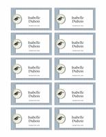 Carte avec nom pour repas de fête après cérémonie de remise des diplômes (Textures)
