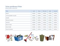 Liste de tâches ménagères pour un enfant