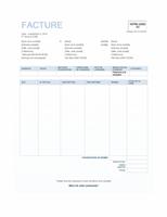 Facture client (création Arrière-plan bleu)