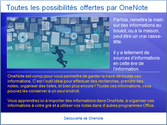 Présentation de la formation : OneNote 2007 - Introduction à OneNote
