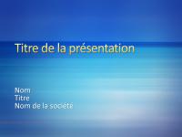 Exemples de diapositives de présentation (conception Rayures bleues)