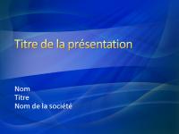Exemples de diapositives de présentation (conception Coup de pinceau bleu)