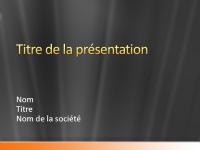 Exemples de diapositives de présentation (conception Bande orange satin gris)