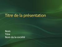 Exemples de diapositives de présentation (conception Tourbillons verts)