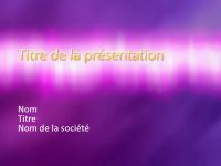 Exemples de diapositives de présentation (conception Texture violette)