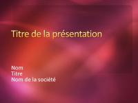 Exemples de diapositives de présentation (conception Texturé couleur vin)