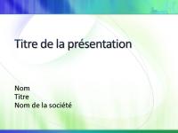Exemples de diapositives de présentation (conception Blanc avec bleu-vert)