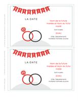 Mariage - Carte de réservation de la date