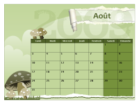 Calendrier scolaire 2009-2010 (août-août, lun-dim)