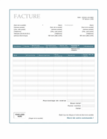 Facture client (création Bordure bleue)