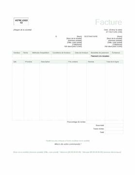 Facture client (Vert)